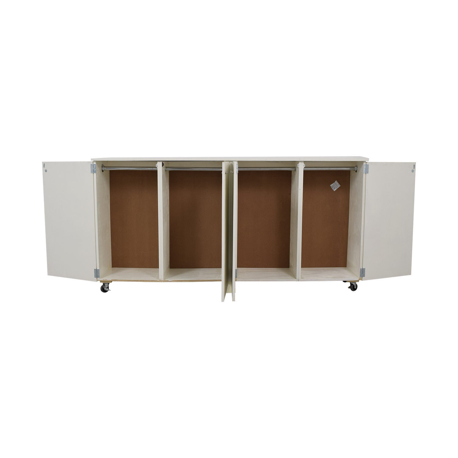 Custom White Cabinet Wardrobe with Hanging Rod Cabinets & Sideboards
