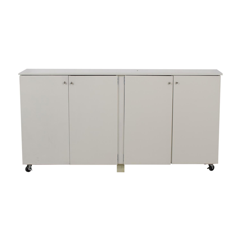 Custom White Cabinet Wardrobe with Hanging Rod