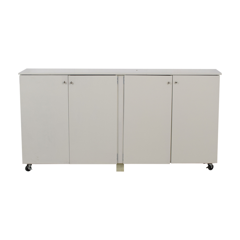 Custom White Cabinet Wardrobe with Hanging Rod / Storage
