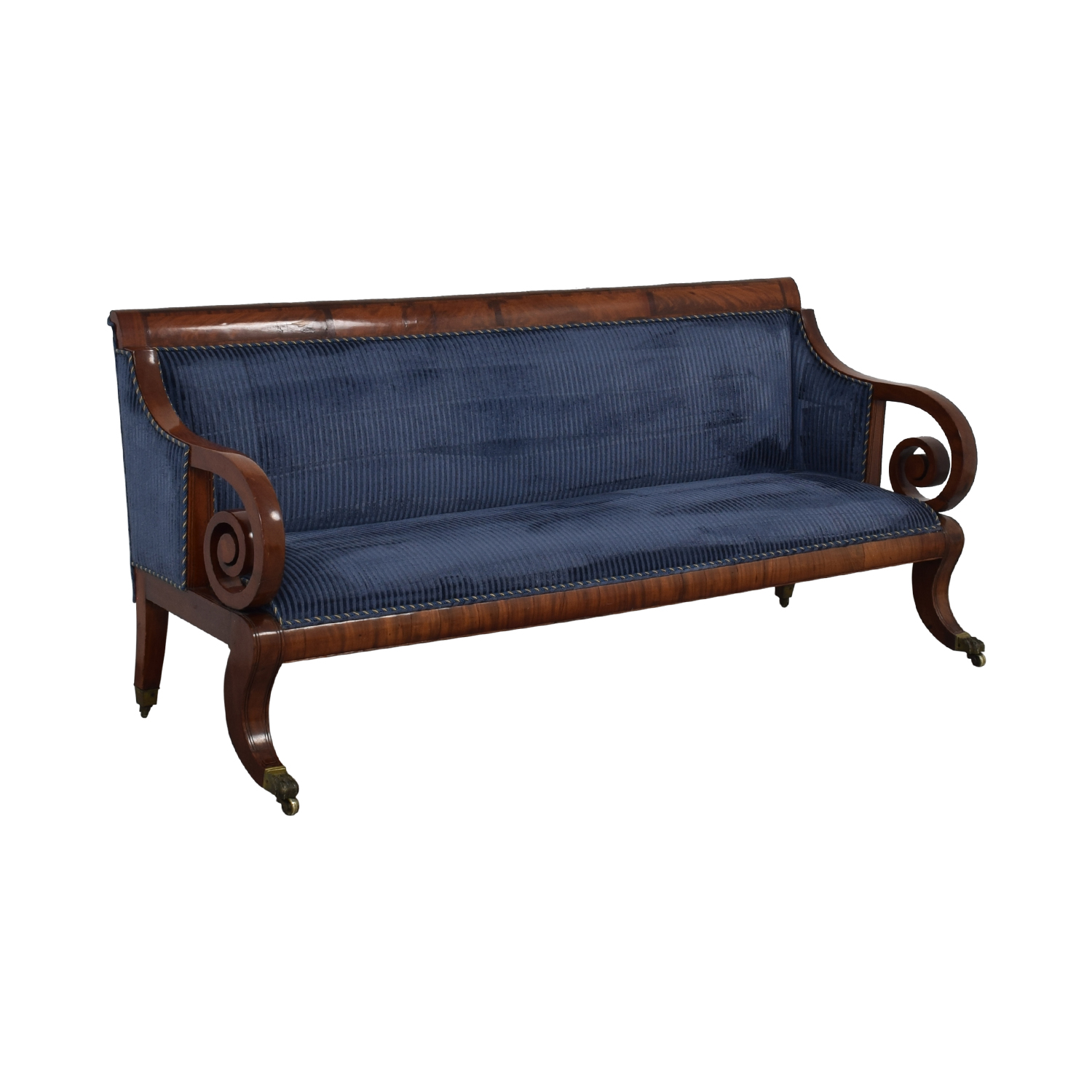 buy American Empire Style Upholstered Sofa