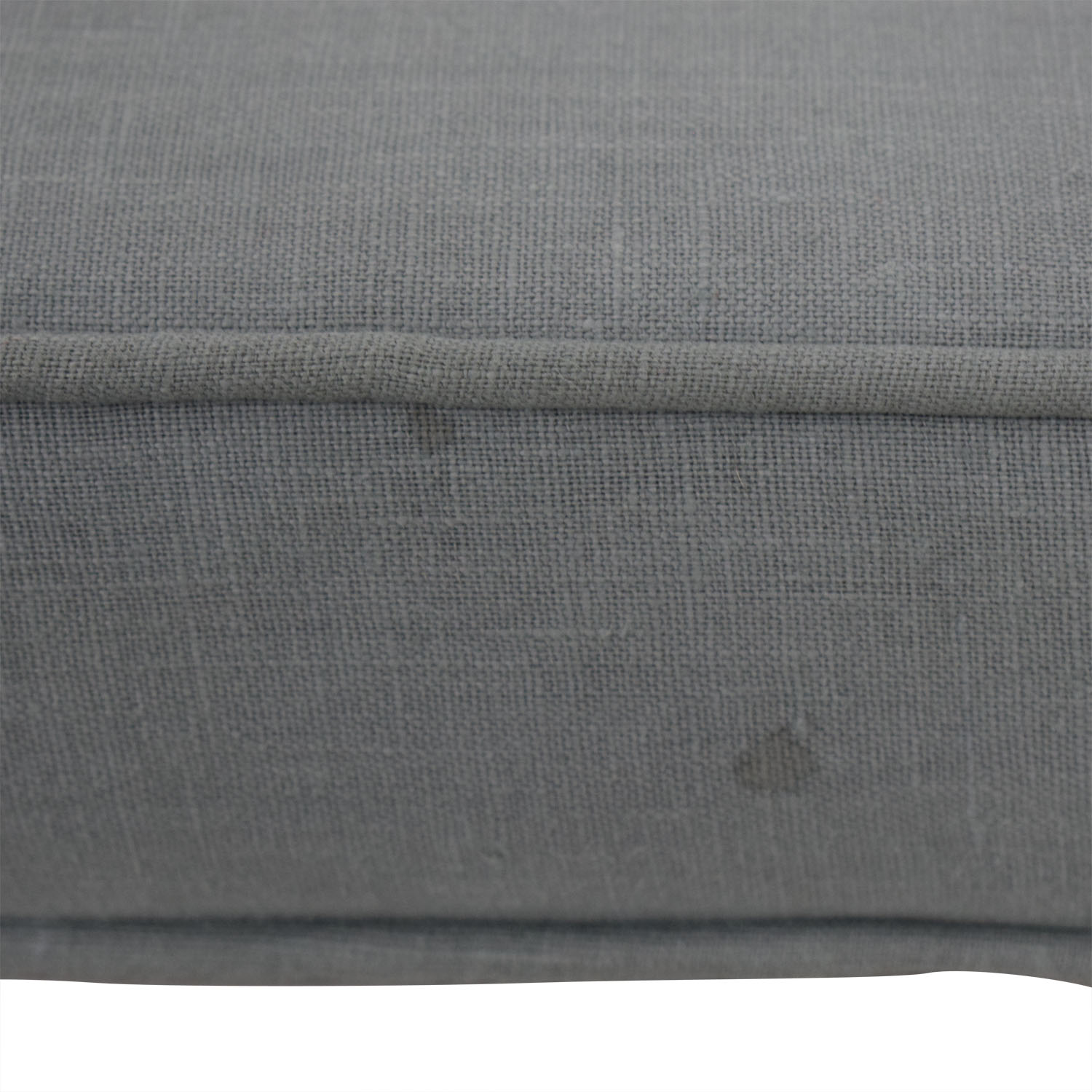 Home Goods Grey Upholstered and White Bench with Four Storage Boxes Home Goods