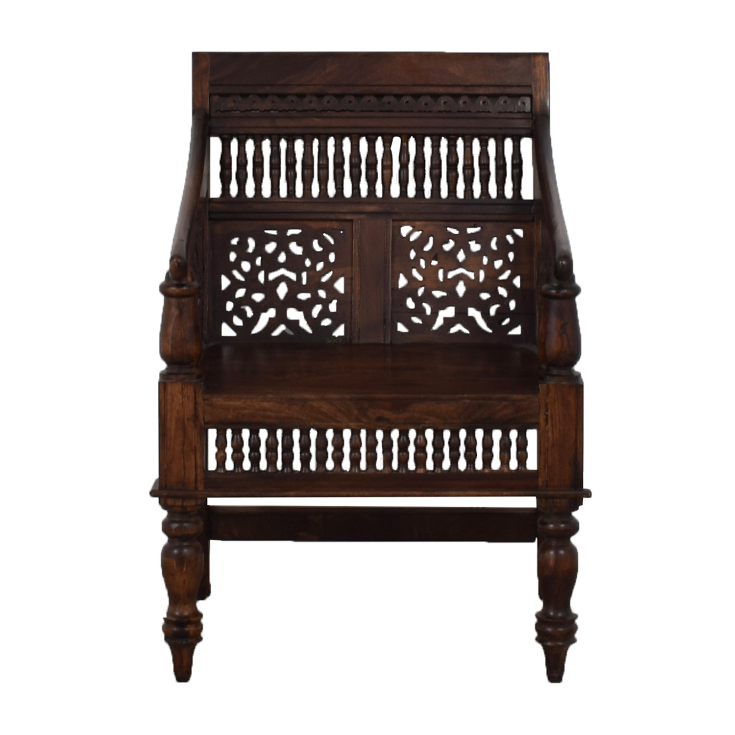 Wooden Accent Chair on sale