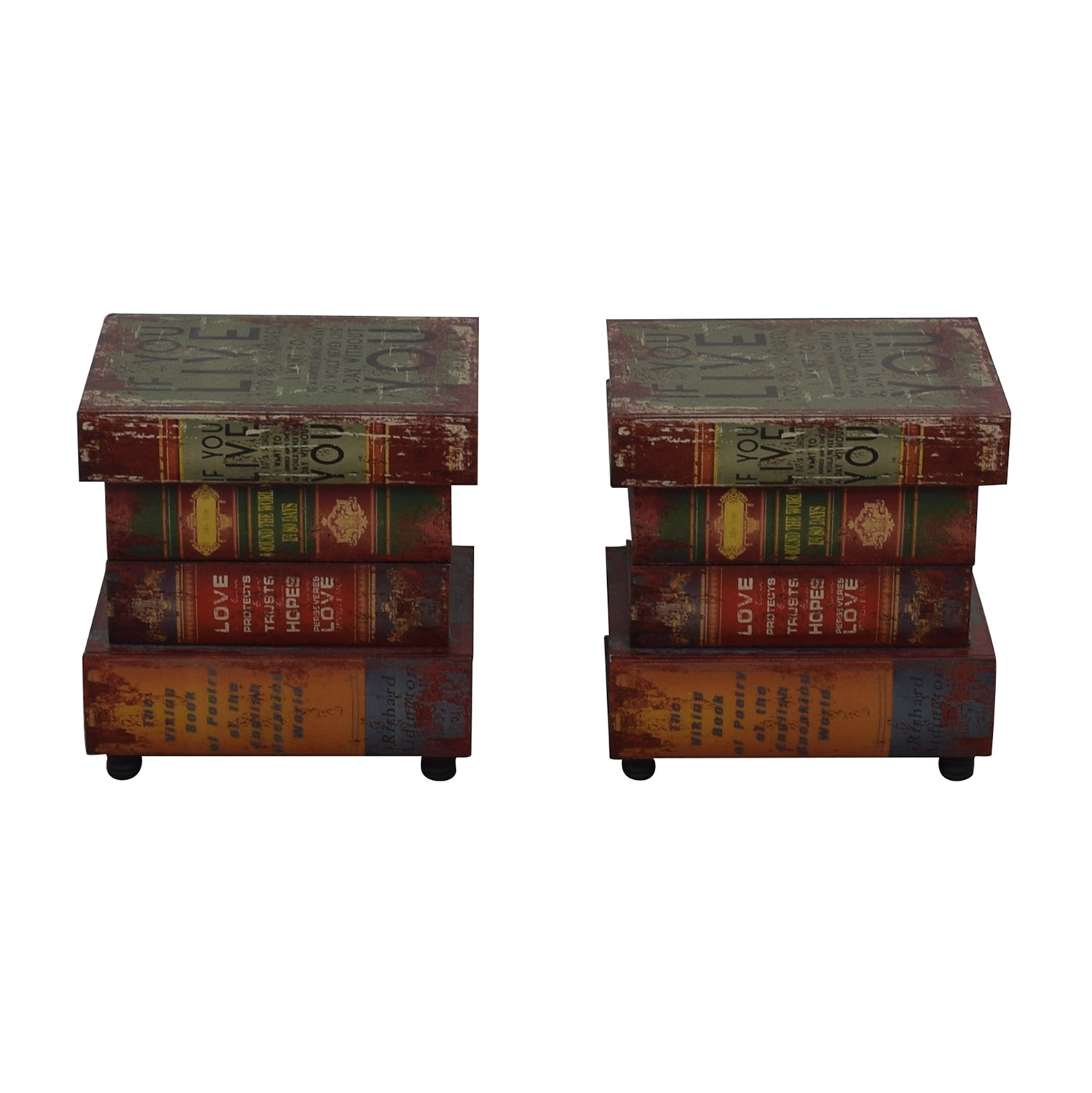 Rustic Book Side Tables nj