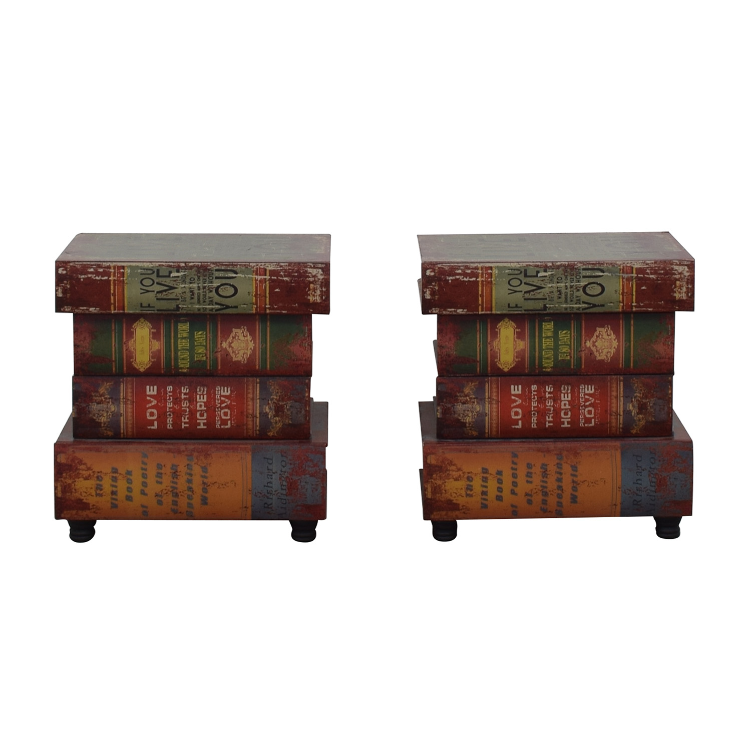 Rustic Book Side Tables End Tables