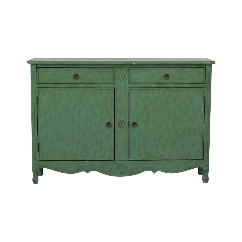 shop Rustic Mint Green Credenza  Storage