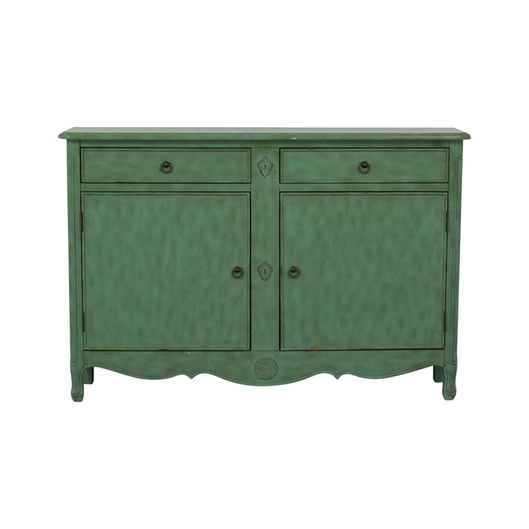 Rustic Mint Green Credenza on sale