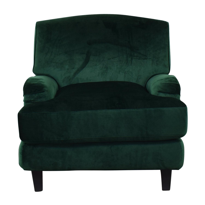 Interior Define Rose Emerald Green Chair