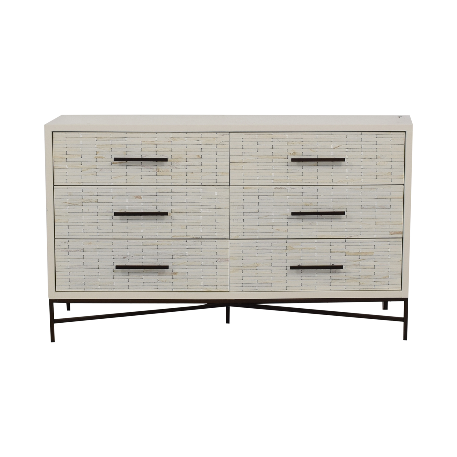 West Elm West Elm White Six-Drawer Dresser dimensions