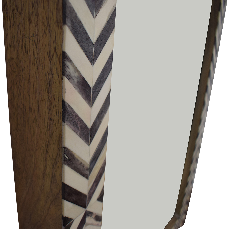 West Elm Parsons Gray Herringbone Wall Mirror / Mirrors