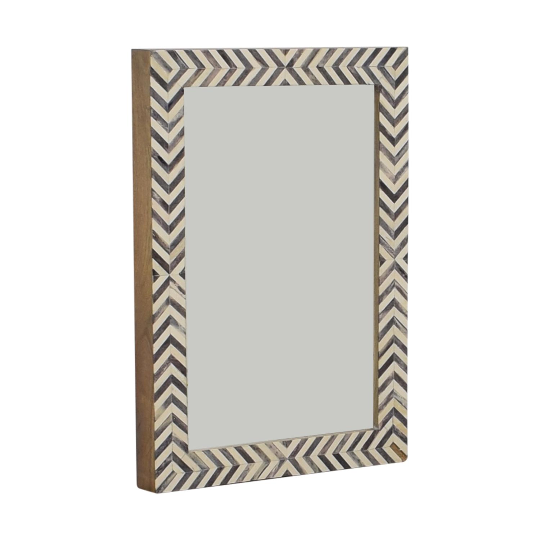 West Elm West Elm Parsons Gray Herringbone Wall Mirror price