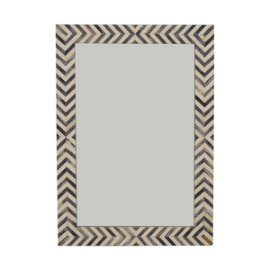 West Elm West Elm Parsons Gray Herringbone Wall Mirror on sale