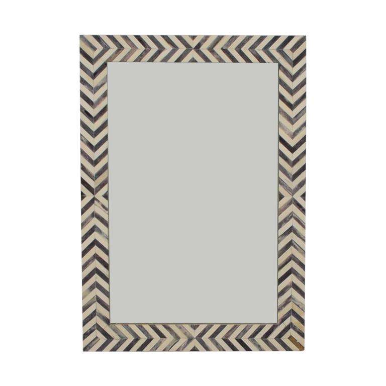 West Elm West Elm Parsons Gray Herringbone Wall Mirror nj