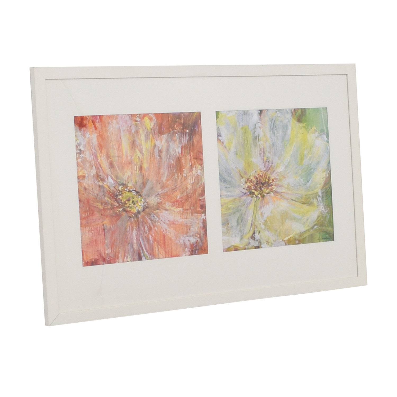 Flowers White Framed Wall Art / Wall Art