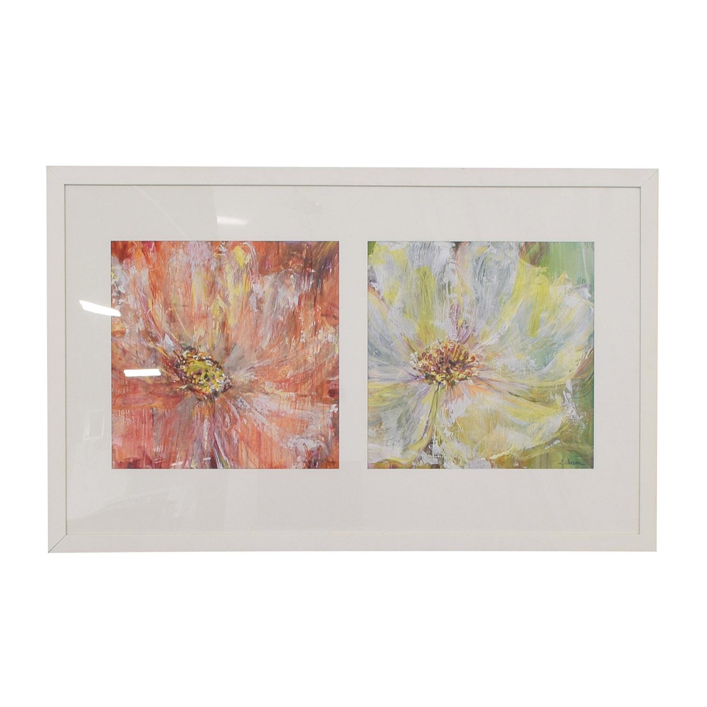 Flowers White Framed Wall Art used