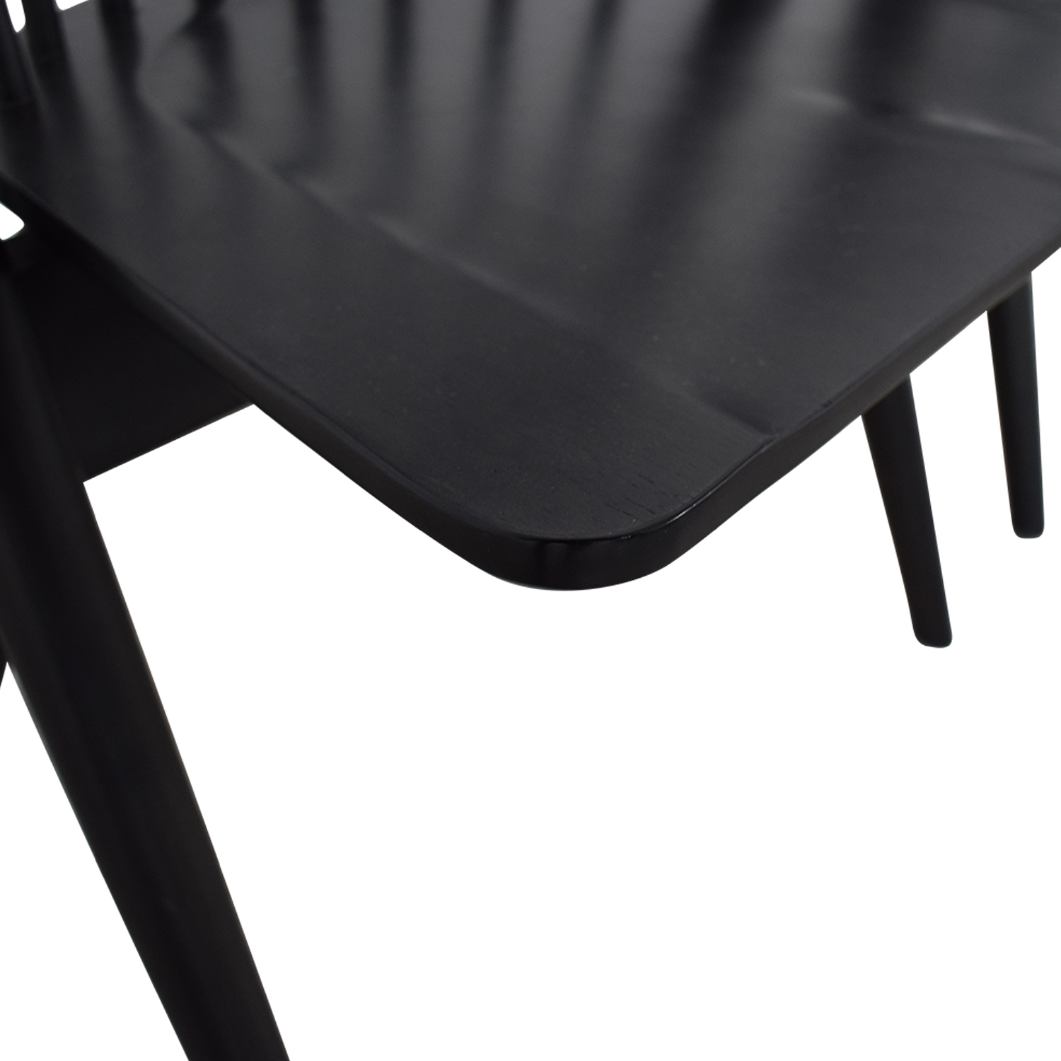 West Elm West Elm Black Spindle Chairs Dining Chairs