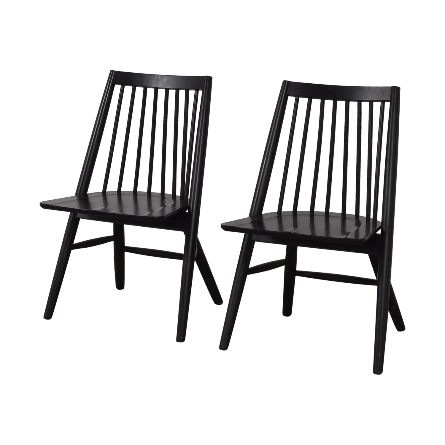 West Elm West Elm Black Spindle Chairs Black