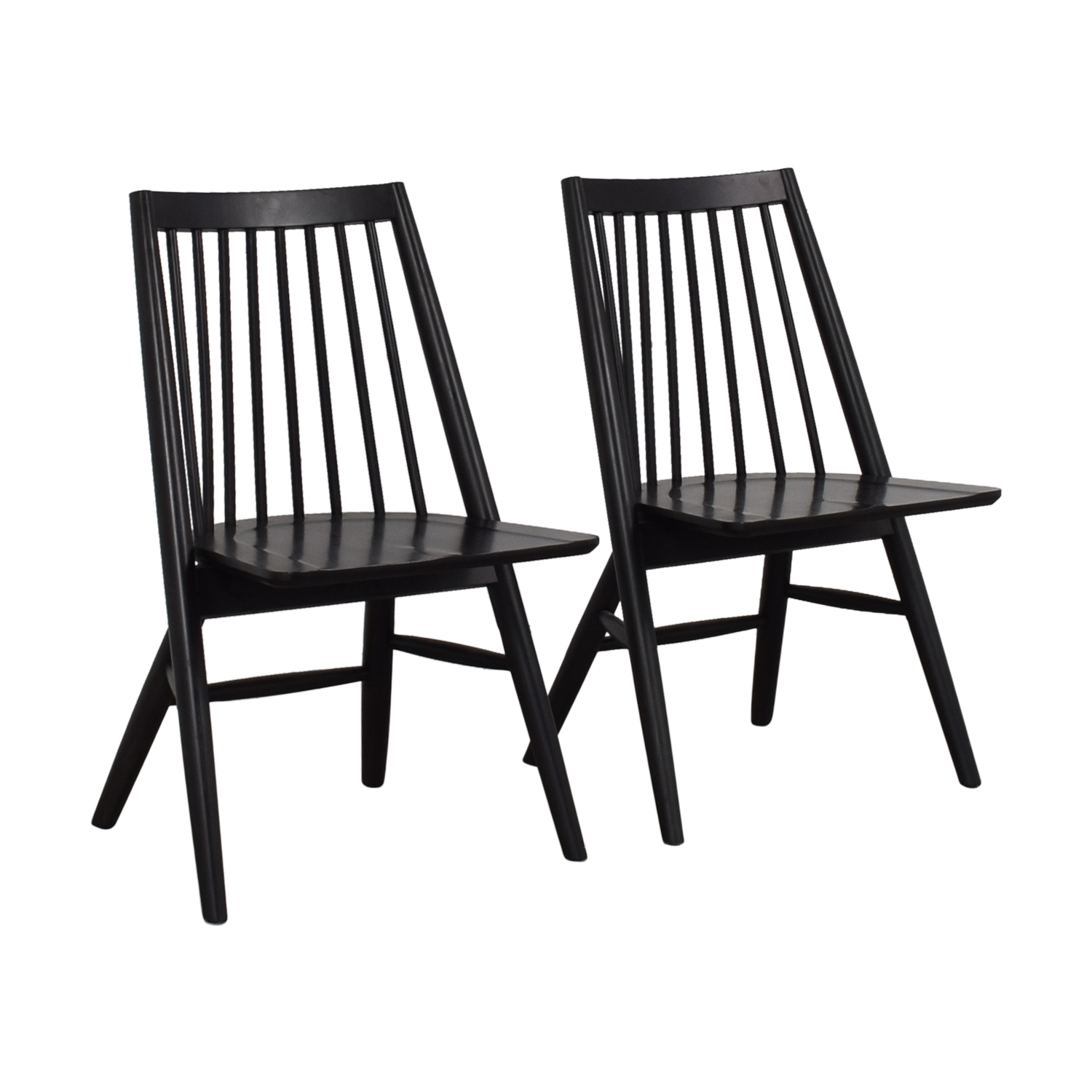 buy West Elm West Elm Black Spindle Chairs online