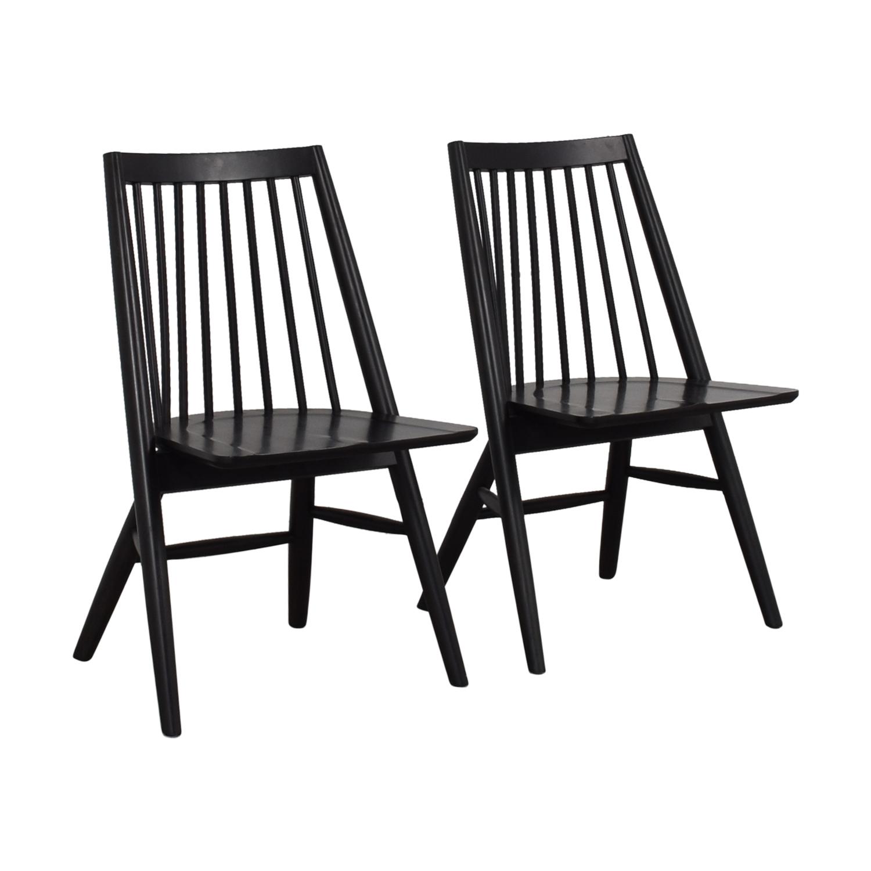buy West Elm West Elm Black Spindle Chairs online