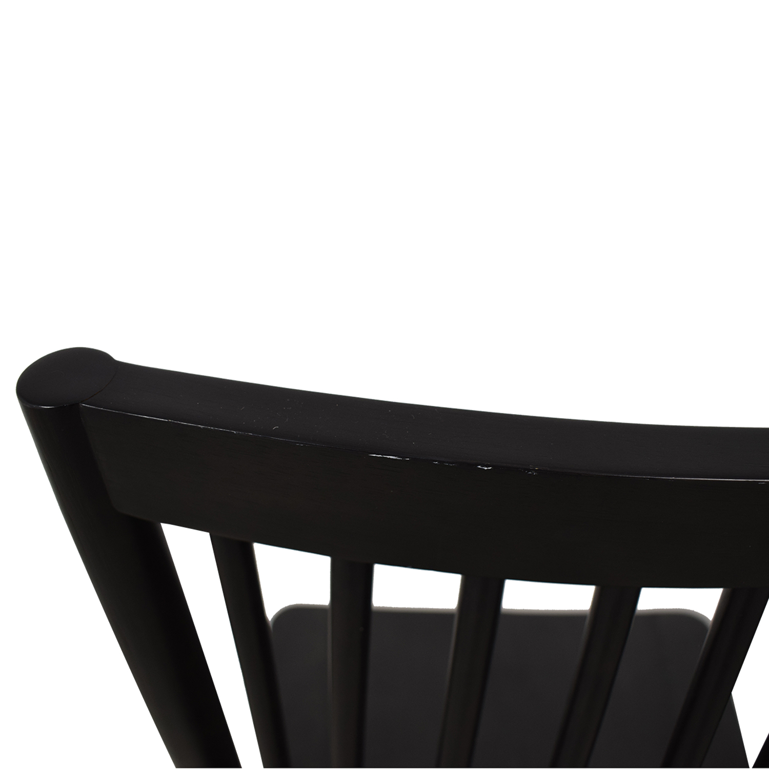 West Elm West Elm Black Spindle Chairs for sale