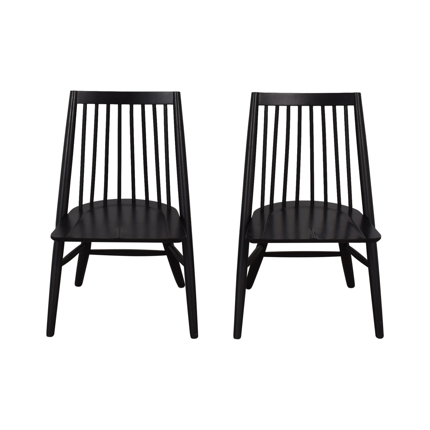 West Elm West Elm Black Spindle Chairs Chairs