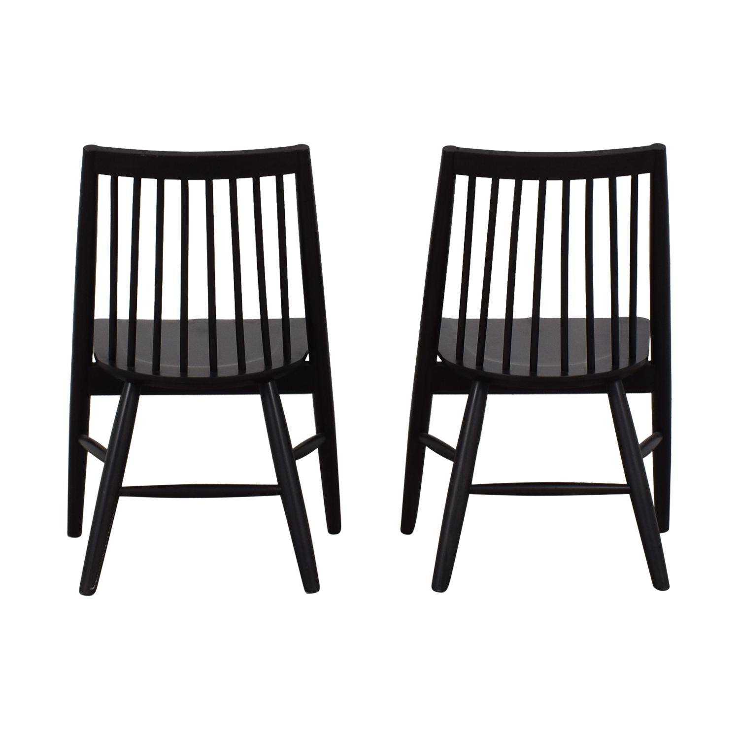 West Elm Black Spindle Chairs West Elm