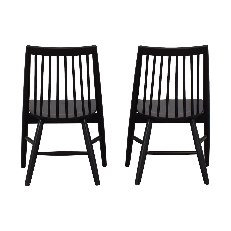 West Elm West Elm Black Spindle Chairs
