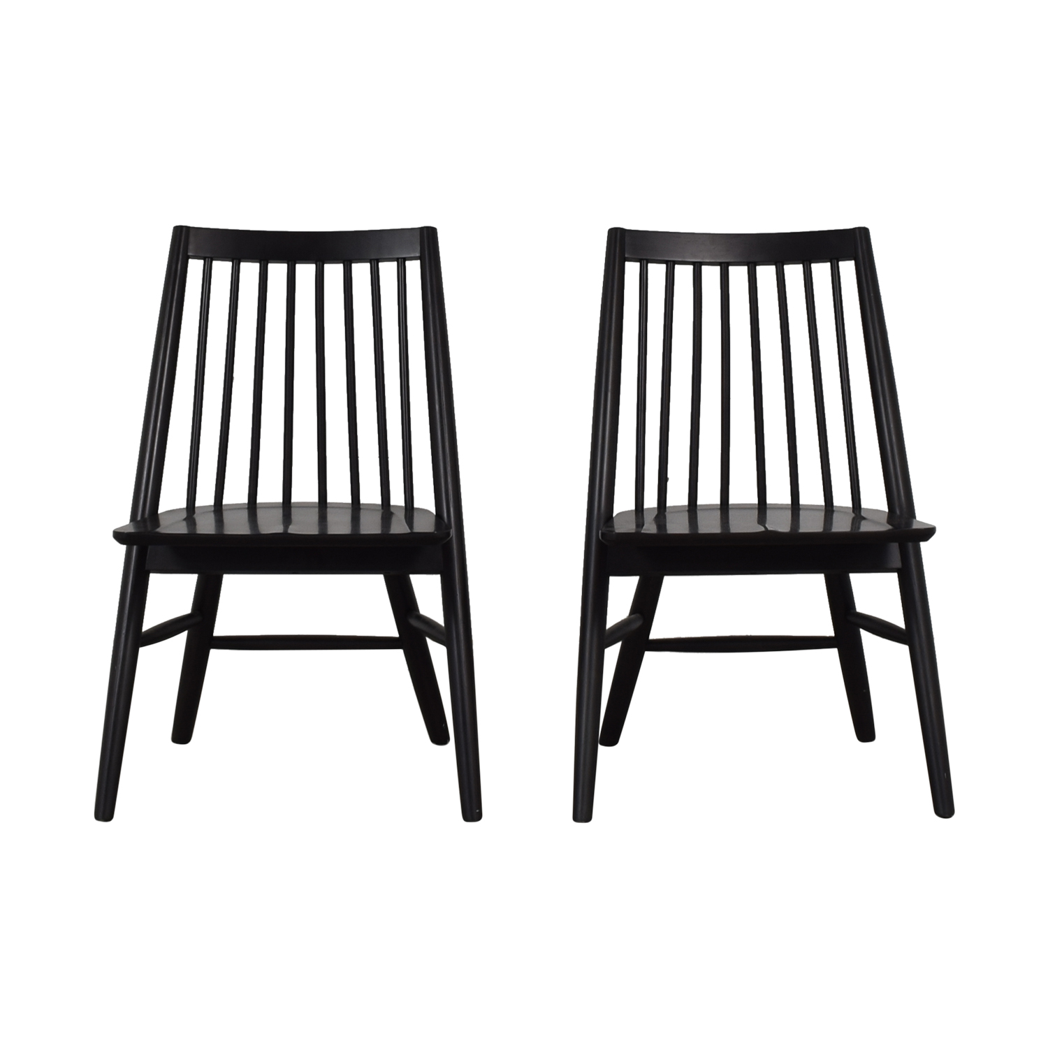 West Elm Black Spindle Chairs / Chairs