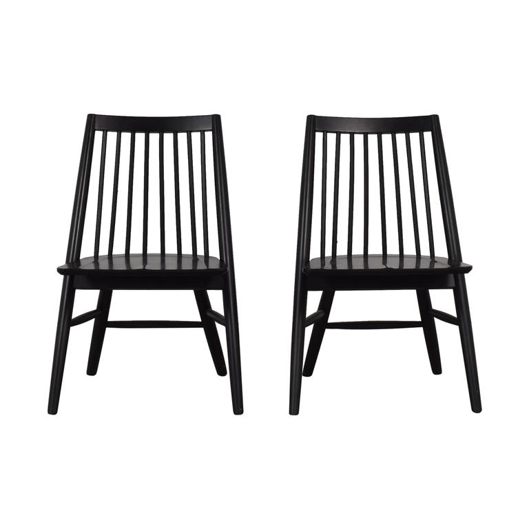 West Elm West Elm Black Spindle Chairs discount