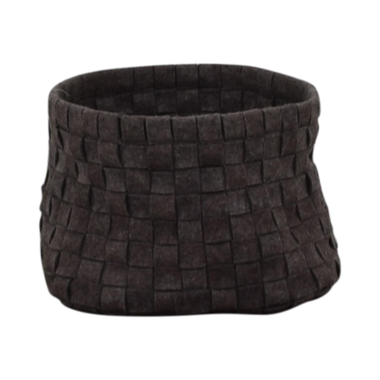 Target Grey Knitted Basket / Decor