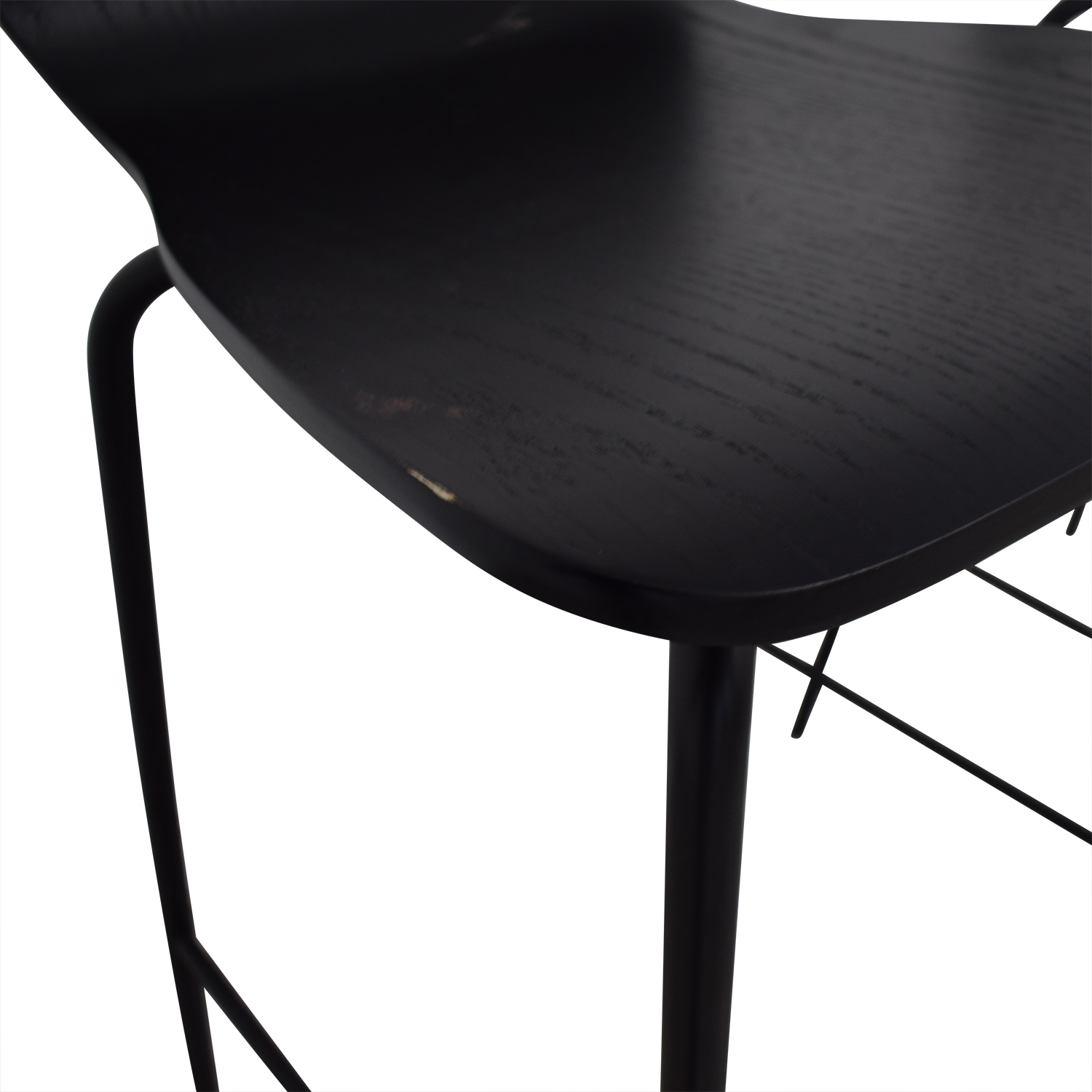 buy Crate & Barrel Felix Black Counter Stools Crate & Barrel