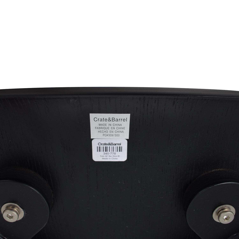 buy Crate & Barrel Felix Black Counter Stools Crate & Barrel