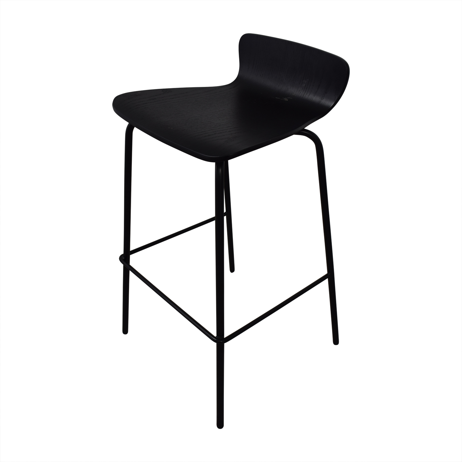 Crate & Barrel Felix Black Counter Stools / Stools