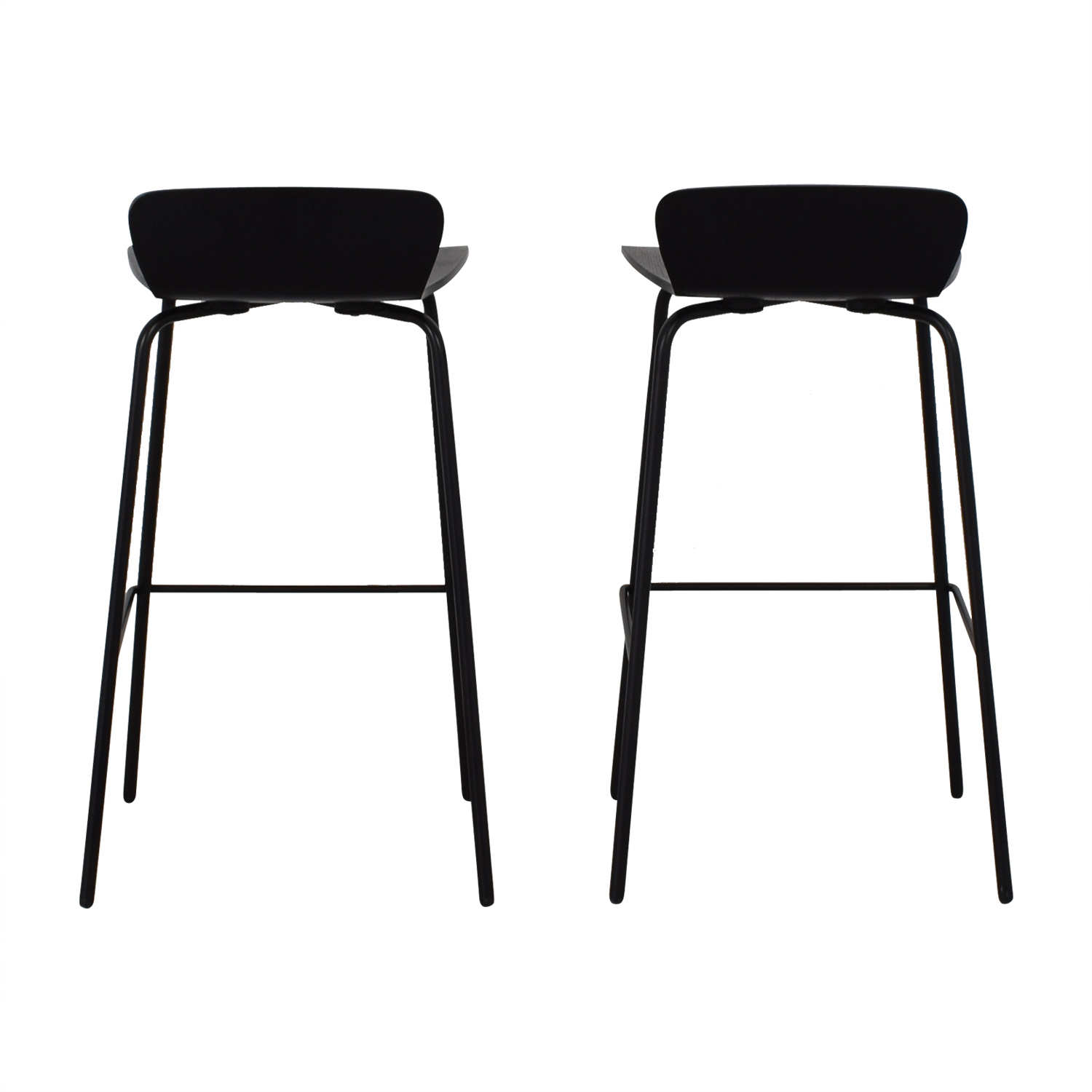 shop Crate & Barrel Felix Black Counter Stools Crate & Barrel Chairs