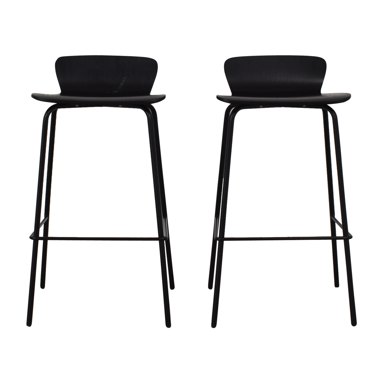 Crate & Barrel Crate & Barrel Felix Black Counter Stools black