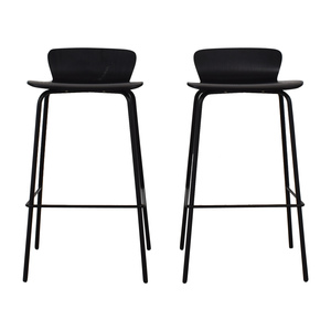 Crate & Barrel Crate & Barrel Felix Black Counter Stools second hand