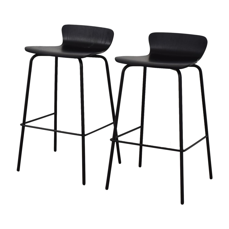 buy Crate & Barrel Felix Black Counter Stools Crate & Barrel Chairs