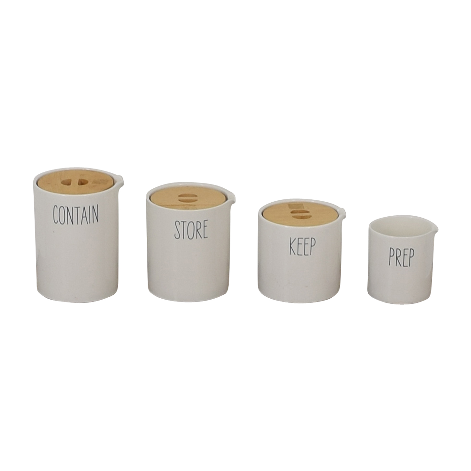 West Elm West Elm Labeled Kitchen Storage Canisters Decorative Accents