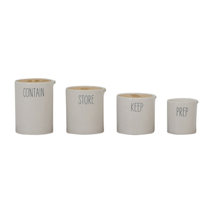 West Elm West Elm Labeled Kitchen Storage Canisters used