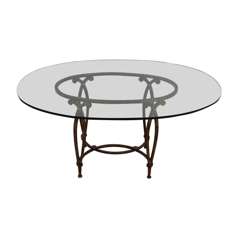 Bloomingdale's Bloomingdale's Glass Top Dining Room Table coupon