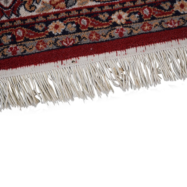 Red Oriental Floral Rug Rugs