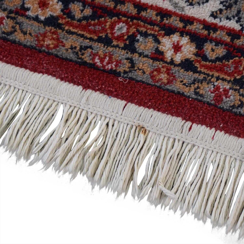 buy Red Oriental Floral Rug  Decor