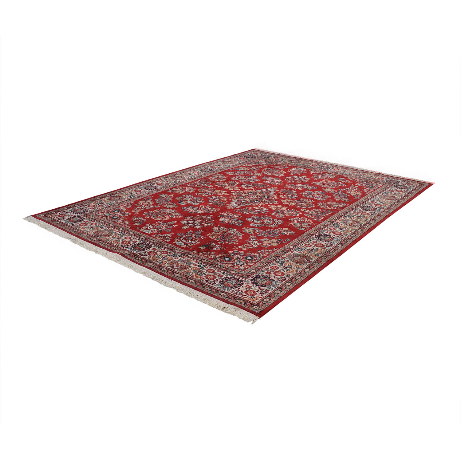Red Oriental Floral Rug Decor