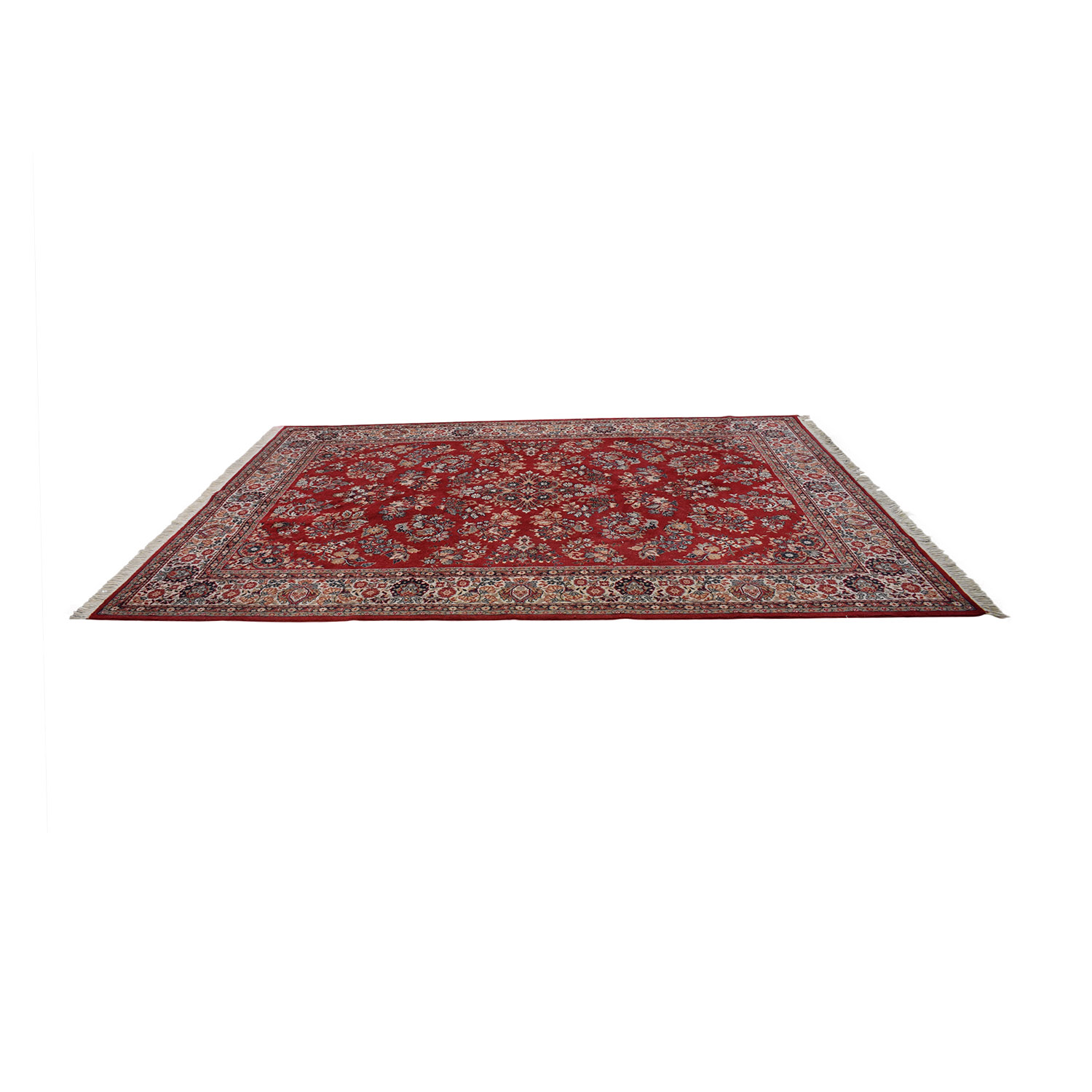 buy Red Oriental Floral Rug  Rugs