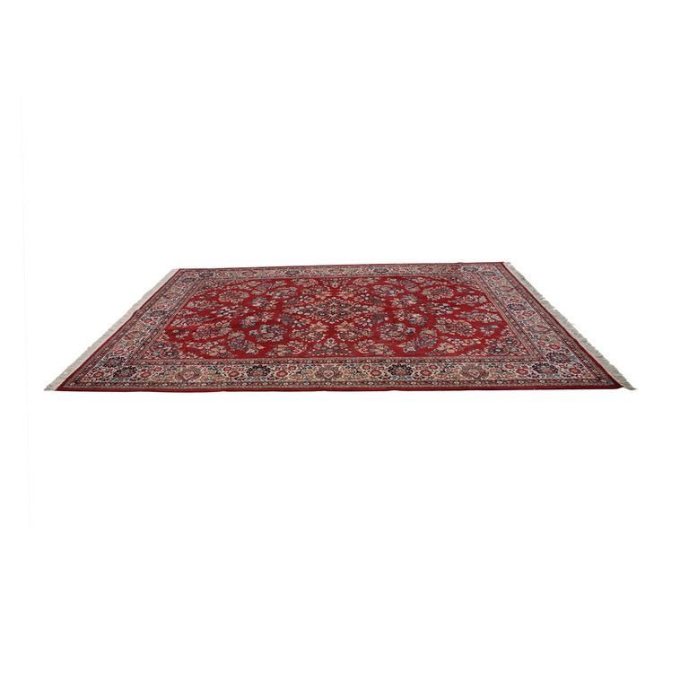 Red Oriental Floral Rug on sale
