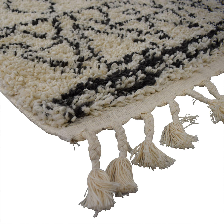 nuLOOM nuLOOMDiana Turkish White and Grey Shag Rug Rugs