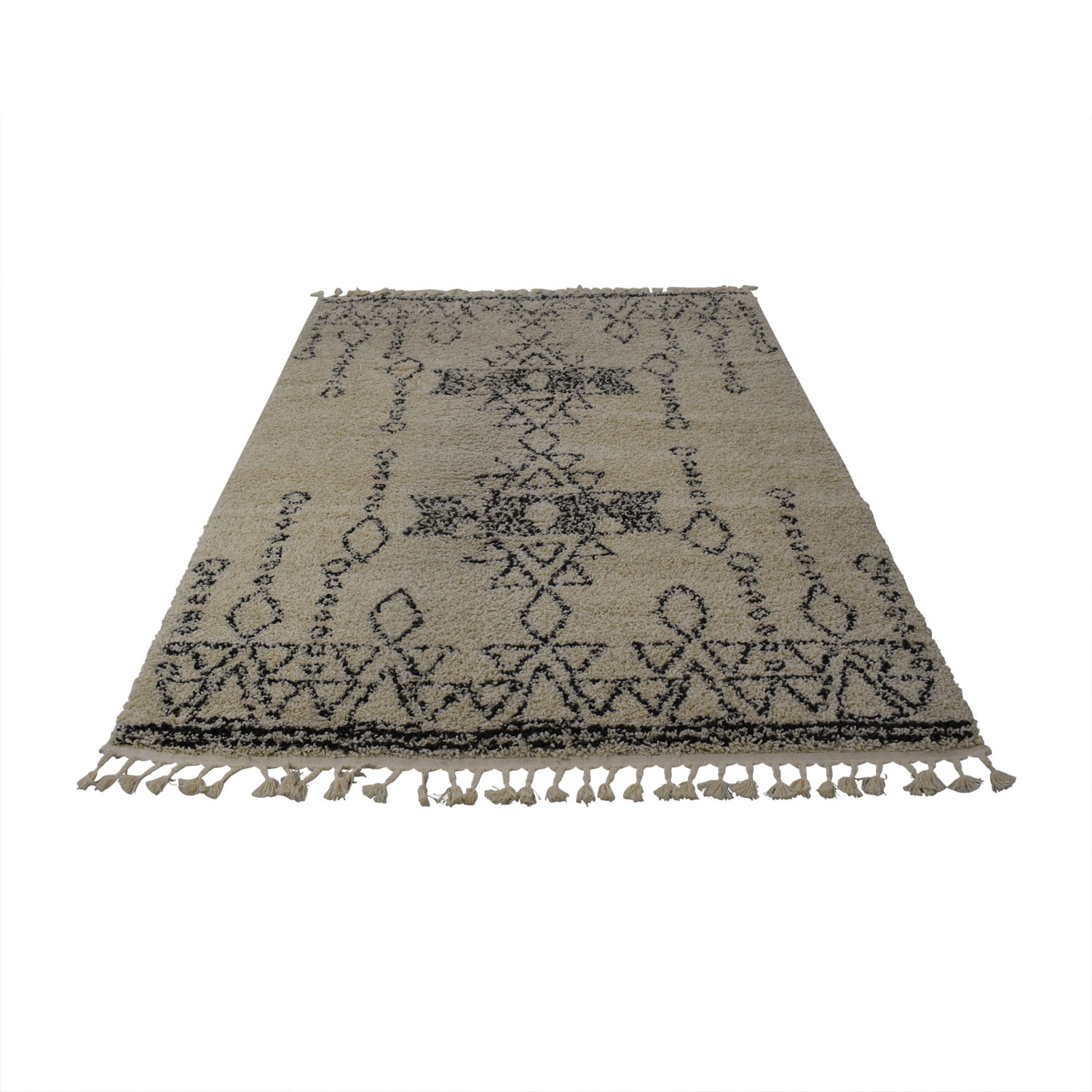 nuLOOM nuLOOMDiana Turkish White and Grey Shag Rug second hand
