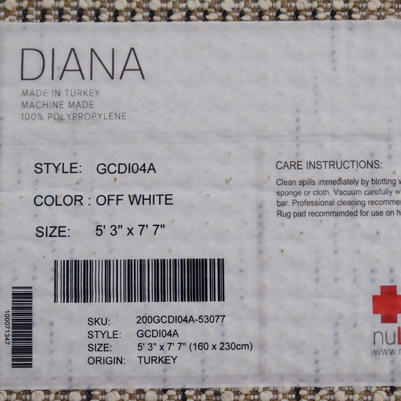 shop nuLOOMDiana Turkish White and Grey Shag Rug nuLOOM Decor