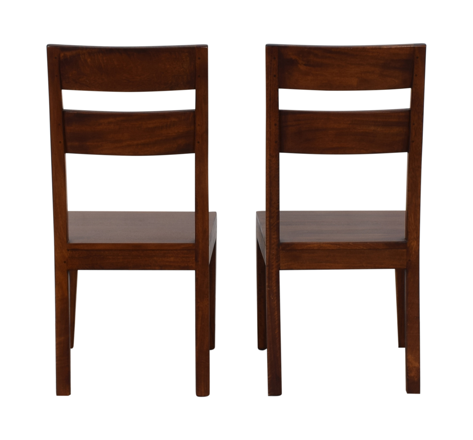 Crate & Barrel Crate & Barrel Basque Honey Wood Dining Chairs coupon