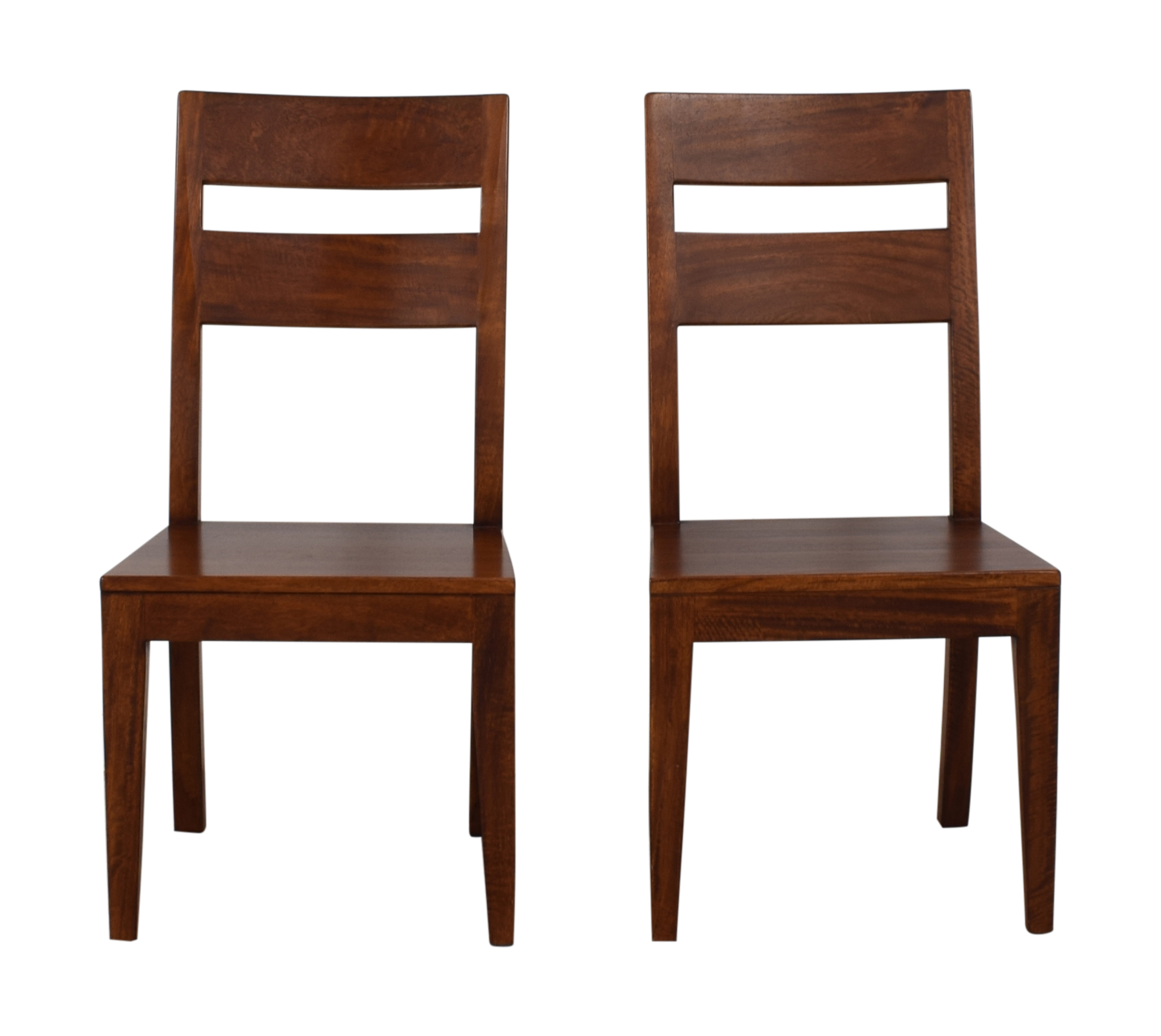 Crate & Barrel Basque Honey Wood Dining Chairs sale
