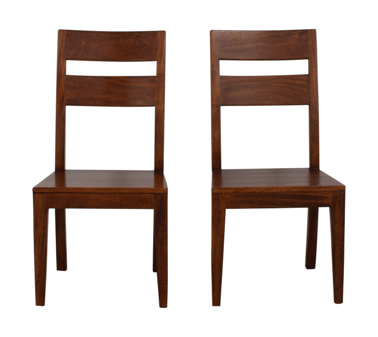 Crate & Barrel Crate & Barrel Basque Honey Wood Dining Chairs nyc